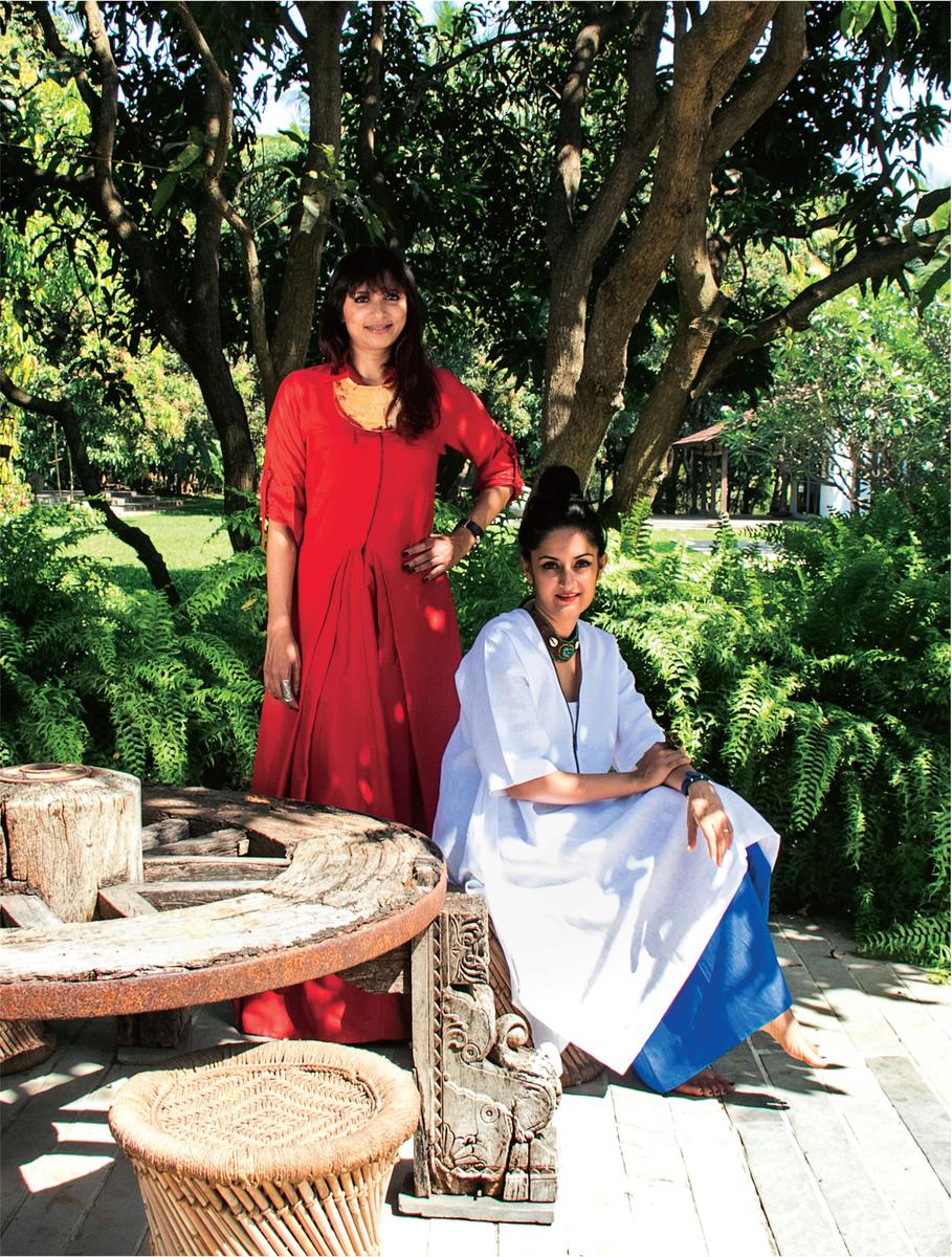(from left to right) Pallavi Choksi & Payal Khandwala / Designers