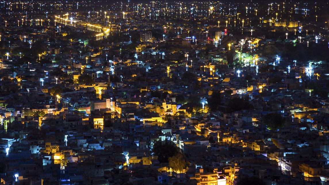 Blue City at Dark