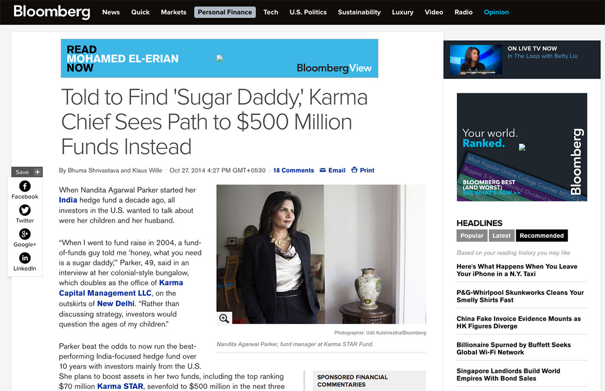 Nandita Parker, Karma Capital