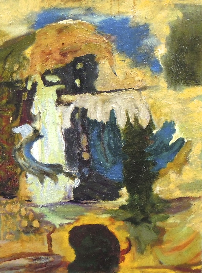 """Untitled, 20"""" x 24"""", Oil on Canvas, 1996, copyright victoriajohnson.net"""