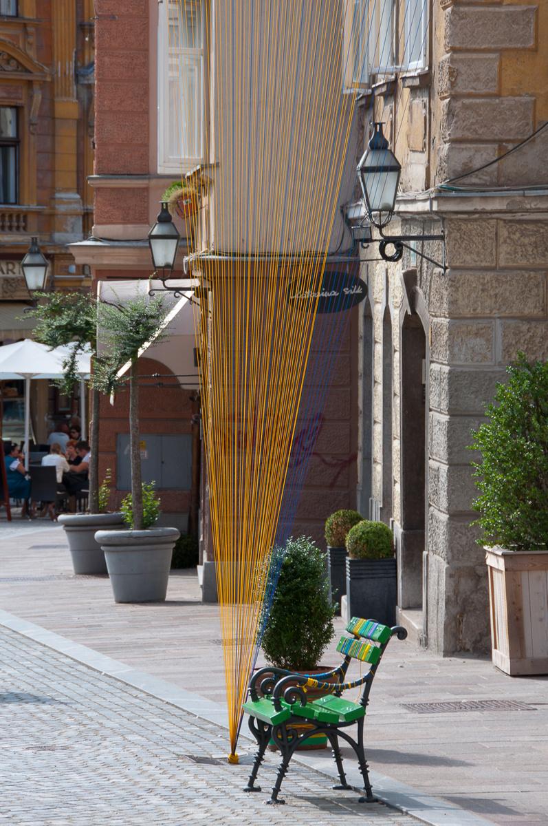 Promenada Gornji trg, Ljubljana . urban intervention, summer 2012