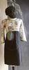 SOPHIE DRESS GREY/WHT 179, LILLIPUT HAT & BurfurtART NECKLACE