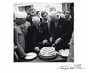 Jawaharlal Nehru, Nikita Khrushchev and Marshall Bulganin at a reception 1955