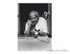 Bhulabhai Desai in a serious phone conversation at Birla House during the Congress Working Committee meeting,1947