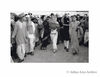 Indira Gandhi, R.S. Pandit and Vijaylakshmi Pandit arriving at a public meeting at Grounds. New Delhi. 1941