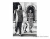 Mahatma Gandhi with Lord and Lady Mountbatten at Government House.1947