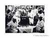 Jawaharlal Nehru and Mahatma Gandhi with refugees at Haridwar. 1947