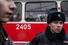 Les gens de différents parties politiques, principalement les communistes, manifestent contre les reformes santé et éducation de Poutine a Moscou, le 14 décembre, 2014. Cette fois les médecins ne sont pas venus manifester car certains ont été licenciés après la dernière manifestation du 30 novembre.