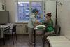 Maria, 30, la patiente de l'ancien hôpital numéro 11, reçois les soins, a Moscou, le 18 décembre, 2014. Elle a reçu le diagnostique de sclérose en plaque il y a 2 semaines. C'est une maladie auto- immune chronique, qui évolue par poussées. Si le traitement est reçu a l'heure, on retard les séquelles invalidantes.