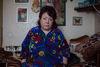Nadejda, 57, la patiente régulière de l'ancien hôpital numéro 11, dans sa chambre a Moscou, décembre 19, 2014.  Elle est malade depuis l'age de 23 ans, mais on ne l'a pas cru au début.