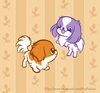 Kawaii Japanese Chin Dogs Playing
