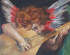 Angel with guitar, Oil on panel, 2012