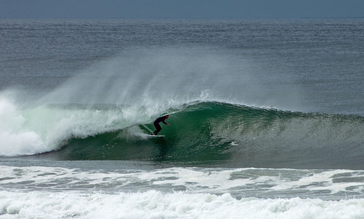 Surfing in Mission Beach