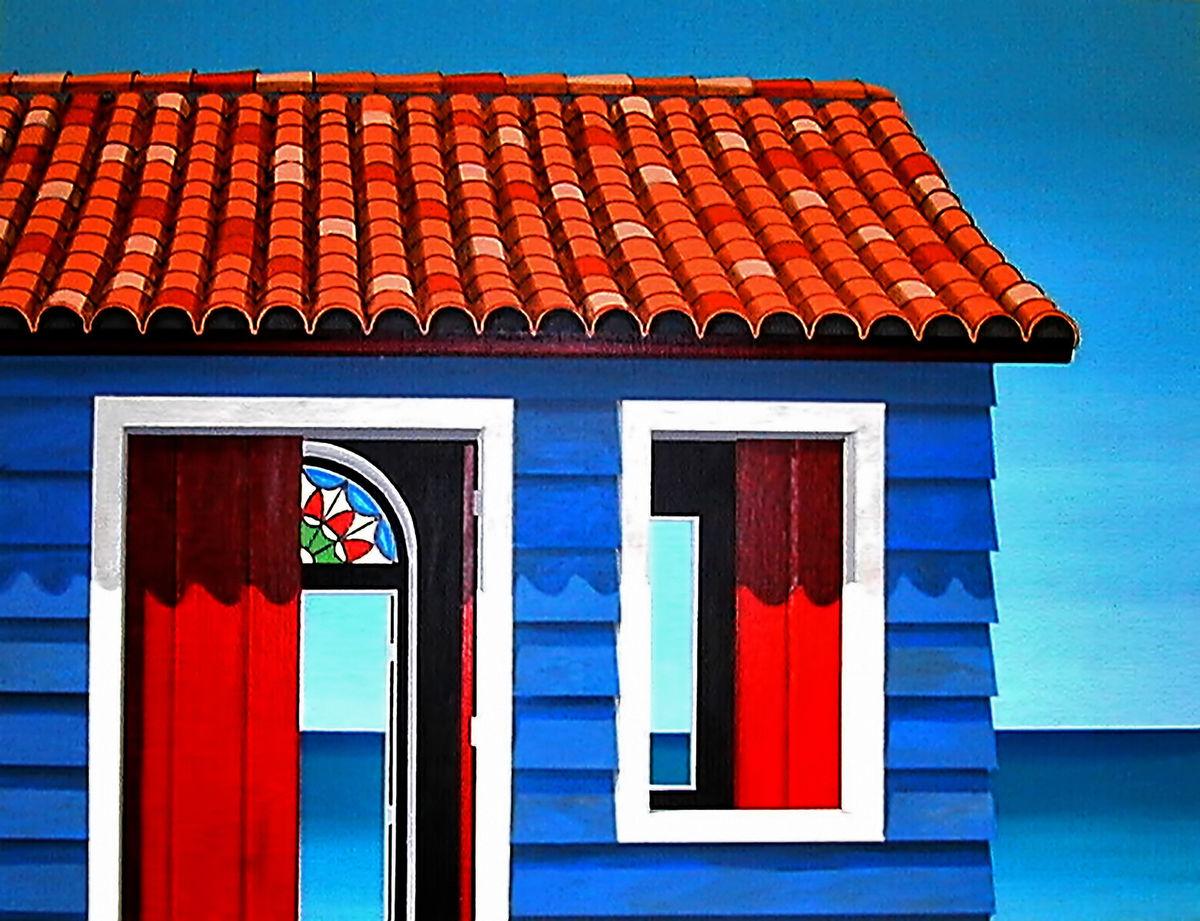 SERIGRAPH--La Casita Azul