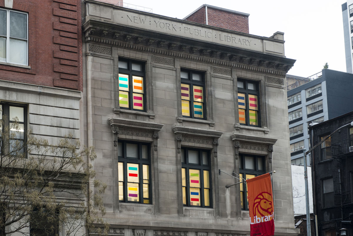 LIFEBOAT, 2014, Exterior and Interior Installation at Muhlenberg Library NYPL, Chelsea, New York, NY Photo Kuo-heng Huang