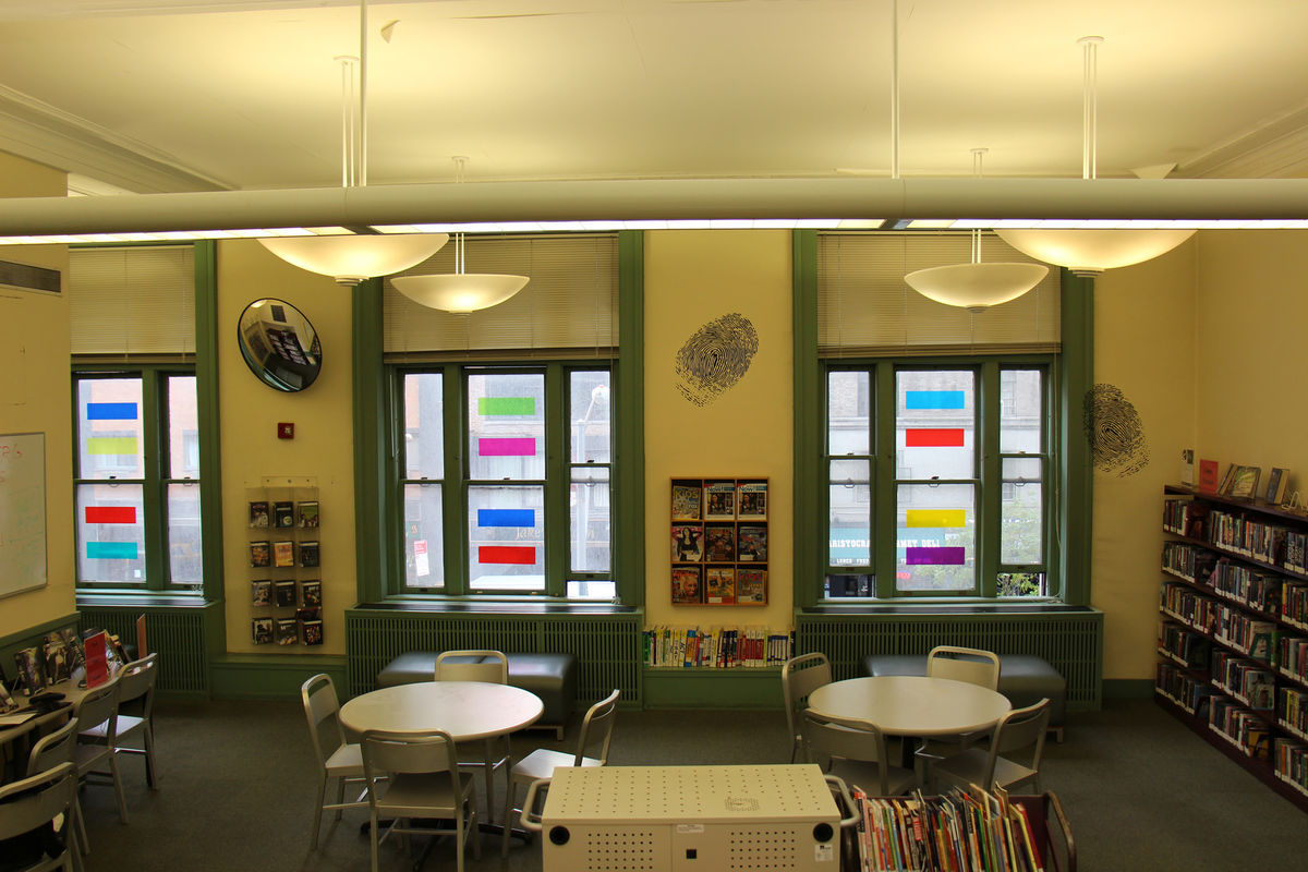 LIFEBOAT, 2014, Window Installation at Muhlenberg Library NYPL, Second Floor, Chelsea, New York, NY