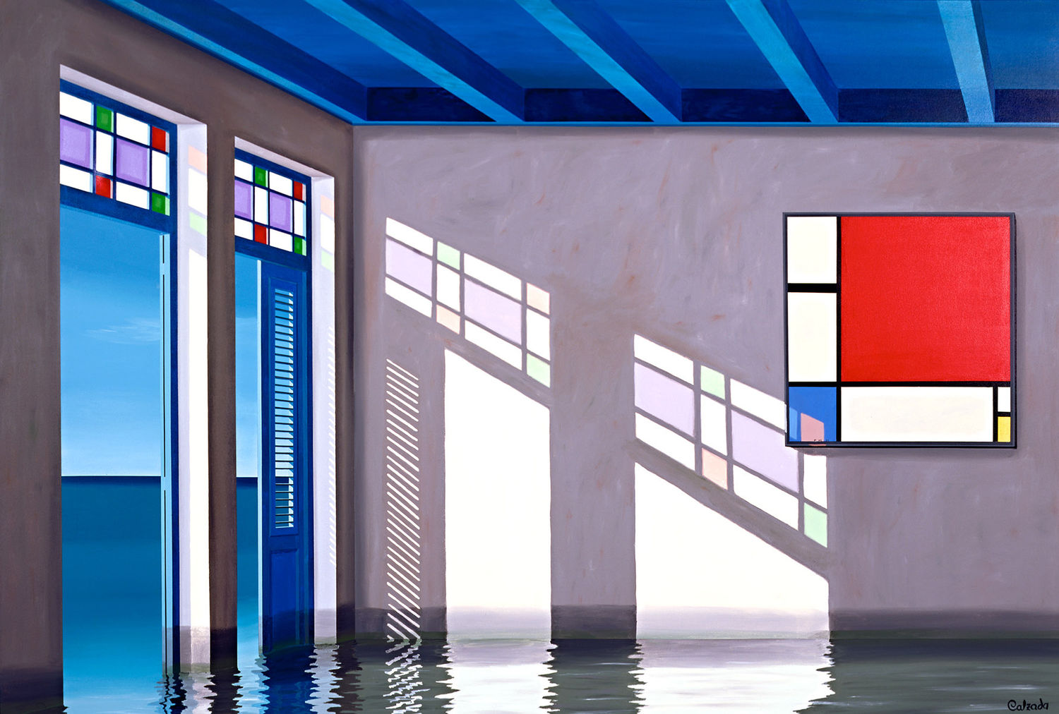 The Late Afternoon and Mondriaan