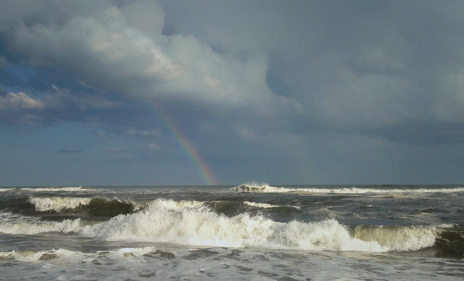 and a rainbow magically appeared over the ocean (from Fire Island)