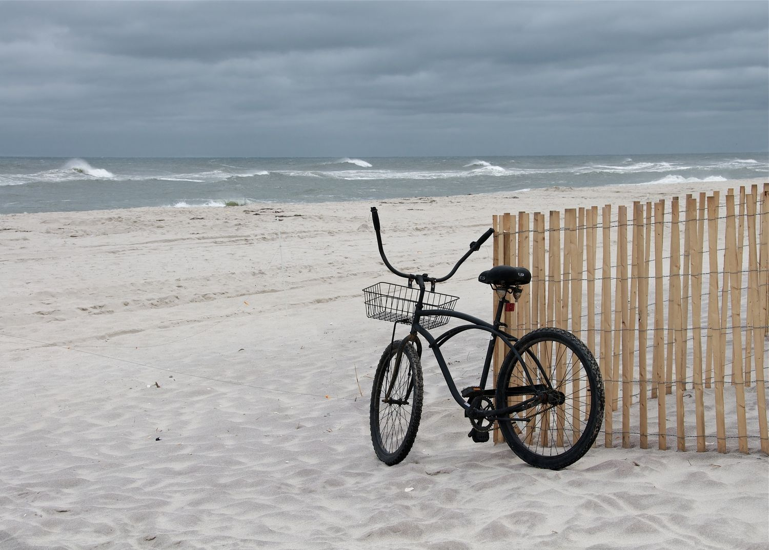 Fire Island Beach (with storm and bicycle)