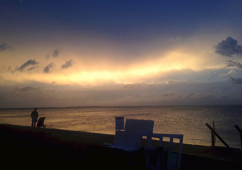 Ocean Beach Golden Sunset