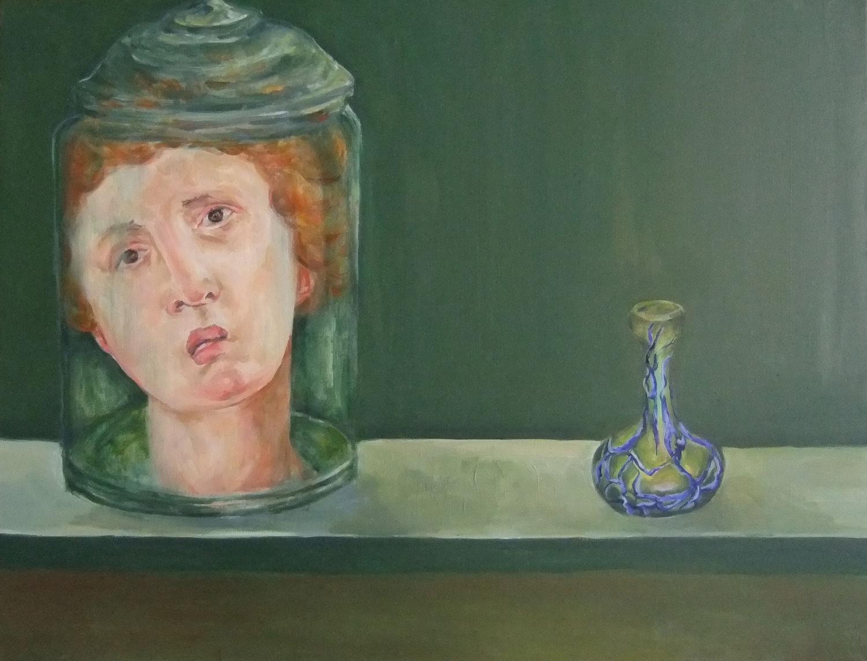 Specimen Jar and Vase, Oil on Linen, 2013