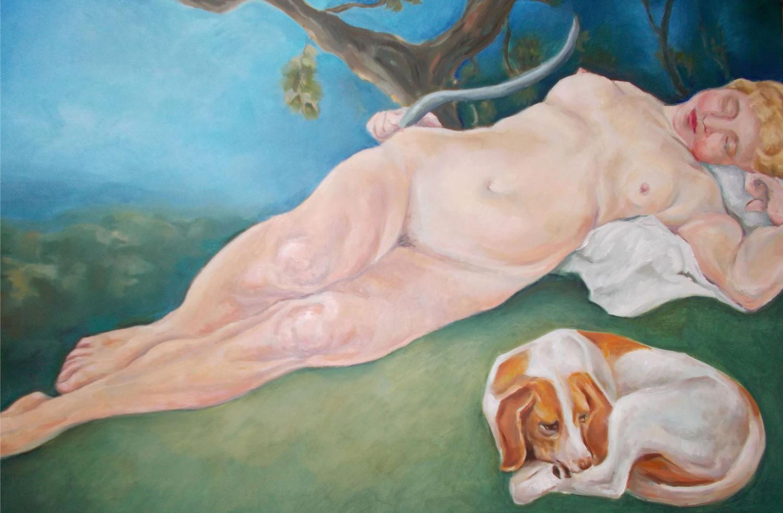 Sleeping Nymph, Oil on Linen, 2014