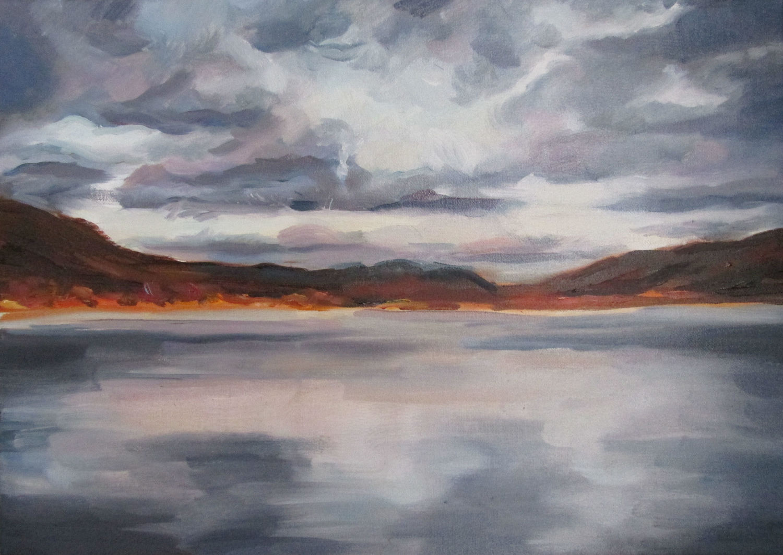 Loch Broom, Oil on Linen, 2016