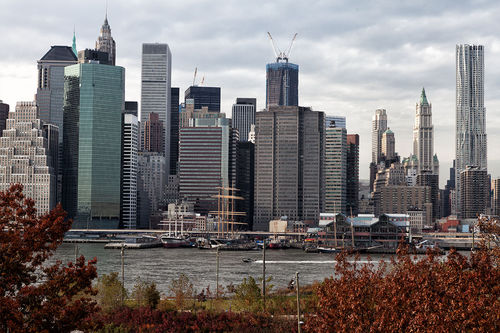 Manhattan skyline from Brooklyn Height