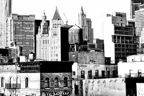 Lower Manhattan in High key
