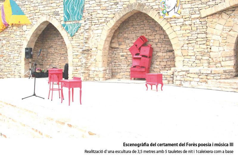Escenografia Forès poesia i música III