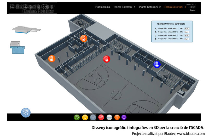 Disseny iconogràfic i infografies en 3D per la creació d'SCADA