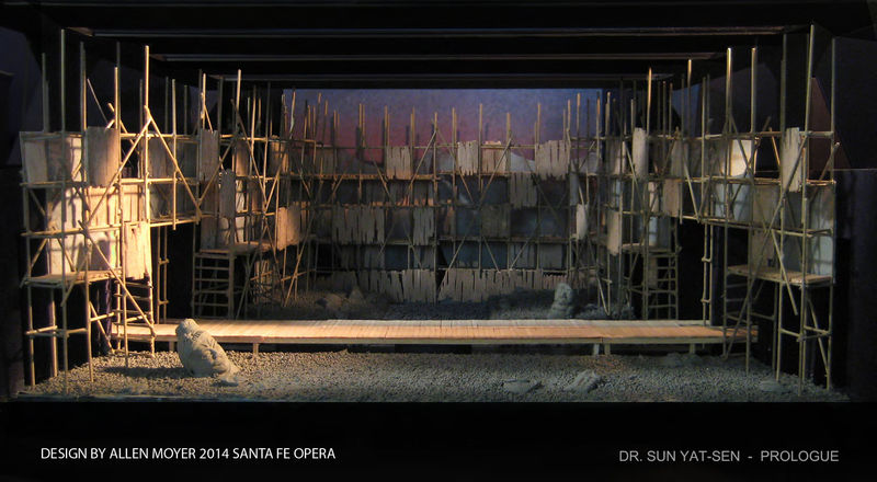 Dr. Sun Yat-Sen (2014 Santa Fe Opera) Set Design by Allen Moyer
