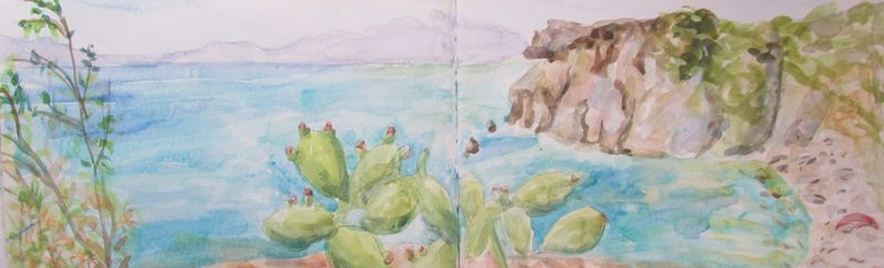 Panarea, watercolour, 2016