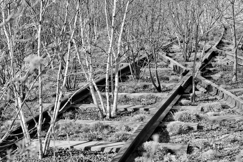 Old railroad on the High Line