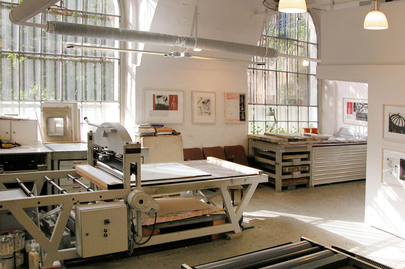 Large Press for Litho and Monoprinting