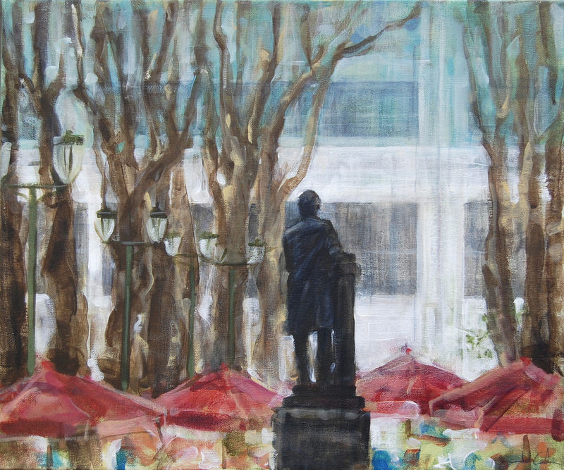 The Reading Room (Bryant Park Corporation: 2015 Painter in Residence Program)